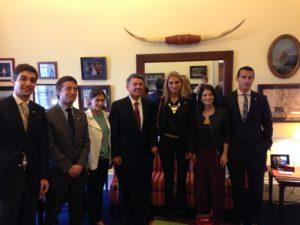 The delegation with then-Congressman Cory Gardner of Colorado